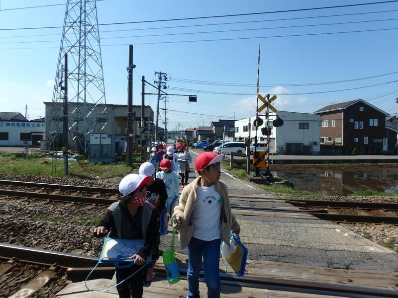 1回目は茨目駅まわりを歩きました!
