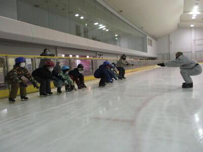 滑り方を習いました